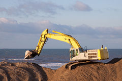 Excavator. An excavator on a dutch Dredging work royalty free stock image