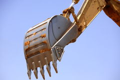 Excavator. Digging a trench for a pipe line Stock Photography
