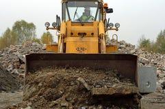 Excavator. Photo of excavator and operator of it Stock Image