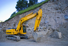 Excavator. Big excavator or digger on a building site Stock Photography