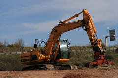 Excavator. With operating weight of 35 000 lb / 16 00 kg Stock Photography