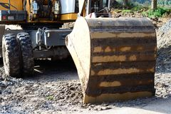 Excavator. On construction sites in operation Royalty Free Stock Photography