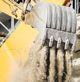 Excavator. In action - close-up Royalty Free Stock Photo