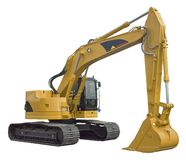 Excavator. New excavator (isolated royalty free stock photos