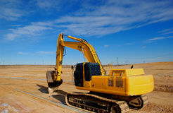 Excavator. Track excavator Stock Photo