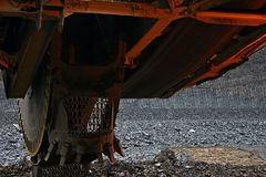 Excavator. Mining excavator, a giant excavator working Royalty Free Stock Image