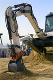 Excavator. On a work site royalty free stock image