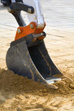 Excavator. Arm at work site stock photo