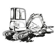 excavator ilustração stock