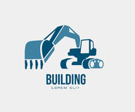 Excavator. Abstract design vector emblem, logo illustration isolated Stock Image