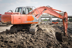 Excavator in action Royalty Free Stock Photography