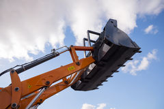 Excavator arm with  basket Royalty Free Stock Image