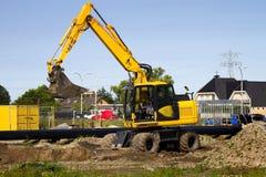Excavator At Work Stock Image