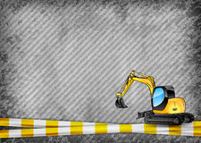 Excavator on the background Royalty Free Stock Photography
