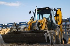 Excavator with a backhoe Stock Photos