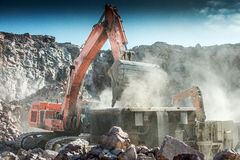 A excavator Stock Photography