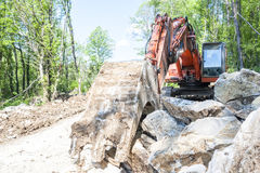 Excavator with big shovel Stock Images