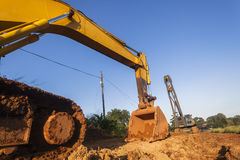 Excavator Bin Crane Construction Site Stock Image