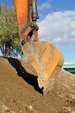 Excavator bucket. Royalty Free Stock Photos
