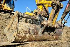 Excavator bucket Stock Photography