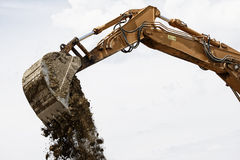 Excavator bucket Royalty Free Stock Photo