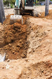 Excavator bucket digger Stock Photos