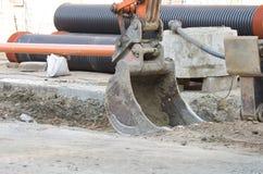 Excavator bucket Stock Images