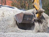 Excavator bucket with gravel Stock Photography