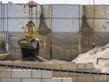 Excavator bucket with open gripper_horizontal Stock Images