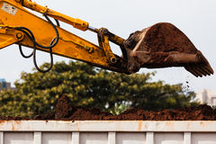 Excavator Bucket Sand Truck Bin Royalty Free Stock Photos