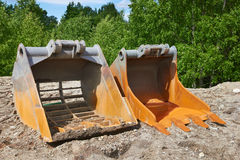 Excavator buckets Royalty Free Stock Photography