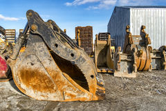 Excavator buckets Royalty Free Stock Images