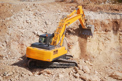 Excavator bulldozer Stock Photo