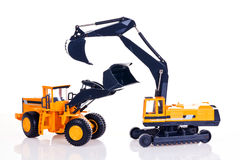 Excavator and bulldozer Stock Photos