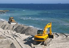 Excavator and bulldozer Stock Image