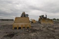 Excavator and bulldozer Stock Image