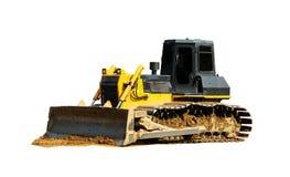 Excavator bulldozer working on the ground stock photography