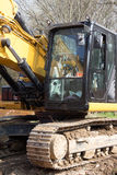 Excavator. A cabin of the excavator Royalty Free Stock Image