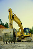 Excavator in Coal Mine Stock Photo
