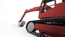 Excavator concept rendered Royalty Free Stock Photography