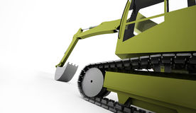 Excavator concept rendered on white Stock Photos