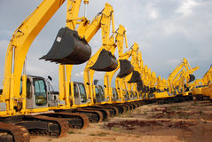 Excavator Construction Equipment royalty free stock image