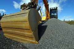 Excavator at a construction site Stock Image