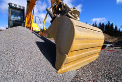 Excavator at a construction site Royalty Free Stock Photo