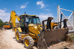 Excavator construction site Royalty Free Stock Images