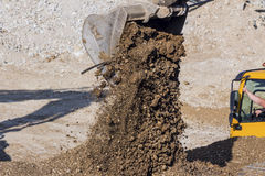 Excavator on construction site during earthworks Royalty Free Stock Photography