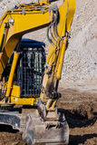 Excavator on construction site during earthworks Royalty Free Stock Images