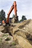 Excavator at the construction site. Royalty Free Stock Photography