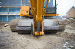 Excavator on construction site Stock Photography