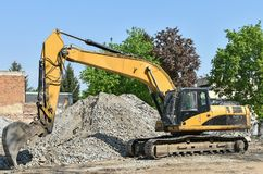 Excavator at the construction site. Outdoor Stock Photography